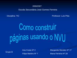 Como construir páginas usando o NVU