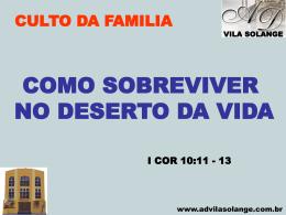 culto da familia - ad vila solange