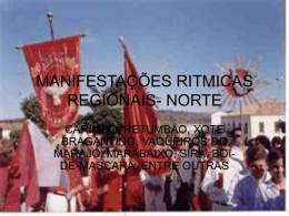 MANIFESTAÇÕES RITMICAS REGIONAIS