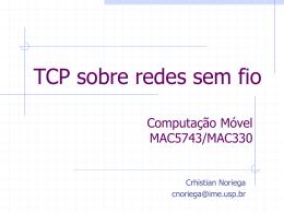 TCP sobre redes sem fio