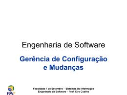 Gerencia de Configuracao e Mudancas - fa7
