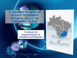 3a Reunião Técnica 2010 - Avaliação da