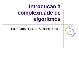 Introdução a complexidade de algoritmos