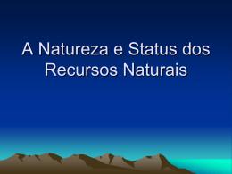 status dos recursos