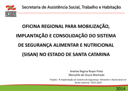 Slide 1 - SST - Governo do Estado de Santa Catarina