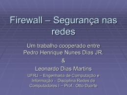Firewall – Segurança nas redes