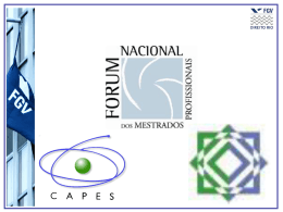 - Fórum Nacional dos Mestrados Profissionais