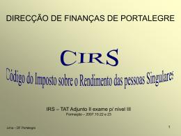 IRS - TATA N3 - DF Portalegre
