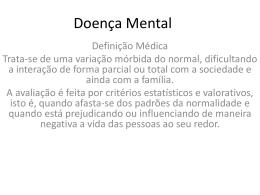Diferenças entre Doença Mental e Deficiência Mental