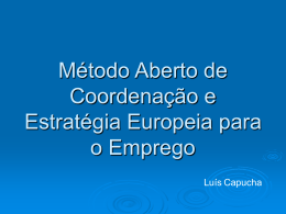Estratégia europeia para o emprego - iscte-iul
