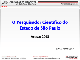 cprti - Pesquisador.sp.gov.br - Governo do Estado de São Paulo