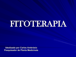 FITOTERAPIA - Terceira Via