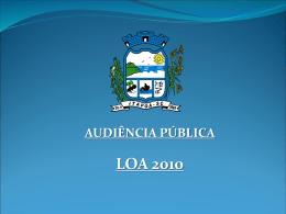AUDIÊNCIA PÚBLICA LOA 2010