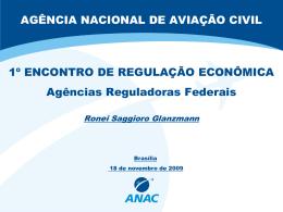 Apresentação ANAC - Forum das Agências Reguladoras