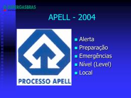 Plano - Processo Apell