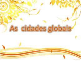 As cidades globais