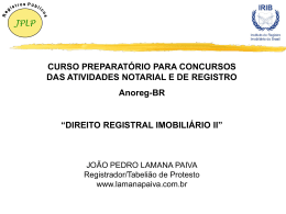 Direito Registral II - Imobiliário (João Pedro Lamana