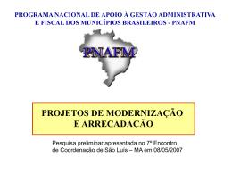Rio Grande do Sul - Unidade de Coordenação de Programas