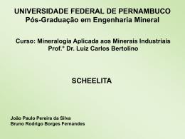 Scheelita - Universidade Federal de Pernambuco