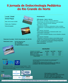 Cartaz Jornada 2009 - Sociedade de Pediatria do Rio Grande