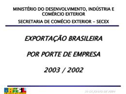 1º Boletim estatístico - Ministério do Desenvolvimento, Indústria e
