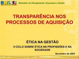 Transparência nos Processos de Aquisição