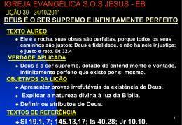 24/10/2011 deus é o ser supremo e infinitamente perfeito