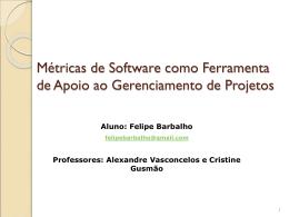 Métricas de Software como Ferramenta de Apoio ao Gerenciamento
