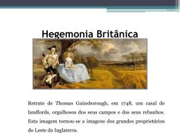 A hegemonia económica britânica