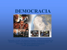 DEMOCRACIA - Capital Social Sul