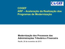 10a Reunião ANEXO 6 Modernização das Secretarias de