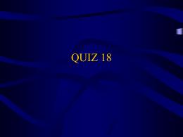 QUIZ 18