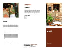 Normas para Apresentação de Folhetos (Folder)
