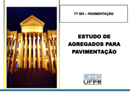 Estudo de Agregados - departamento de transportes da ufpr