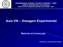 UNIVERSIDADE FEDERAL DO MATO GROSSO