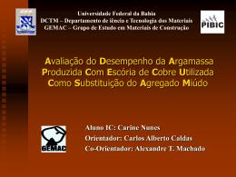 Slide 1 - Universidade Federal da Bahia
