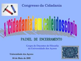 A `Cidadania` - Universidade dos Açores