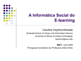 The Social Informatics of Elearning