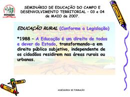 Seminário de Educação do Campo e Desenvolvimento