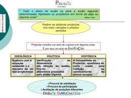 Apresentação PowerPoint - Concepção, Gestão e Avaliação de