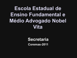 Slide 1 - Escola Nobel Vita