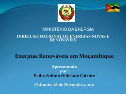Energias Renováveis em Moçambique