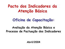Pacto dos Indicadores da Atenção Básica