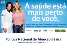 Política Nacional de Atenção Básica - Secretaria da Saúde