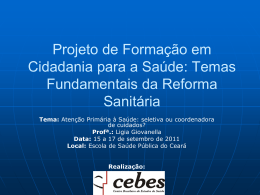 Atenção Básica no Brasil