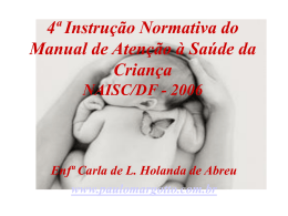 4ª Instrução Normativa do Manual de Atenção à Saúde da Criança