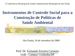 Seminário Atenção Primária Ambiental e a Estratégia de Saúde da