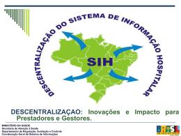 sistema de informação hospitalar descentralizado - sihd