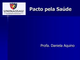Pacto de Gestão do SUS - Faculdade Mauricio de Nassau
