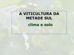 CLIMA E SOLO CAMPANHA